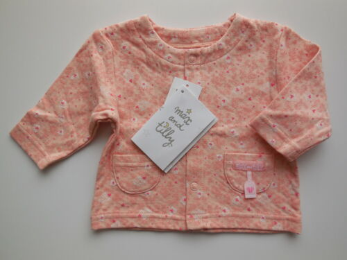 NEW Max and Tilly baby girl peach lightweight cotton jacket size 00 Fits 3-6m