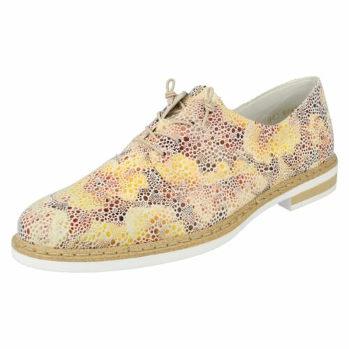 Up Rieker Elasticated Casual Ladies N0400 Shoes Multi Synthetic Lace g6SdgYqw