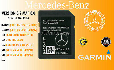 Mercedes-Benz B E C CLA CLS GLA GLC SLC SD Card Navigation Garmin Map Pilot v8.2