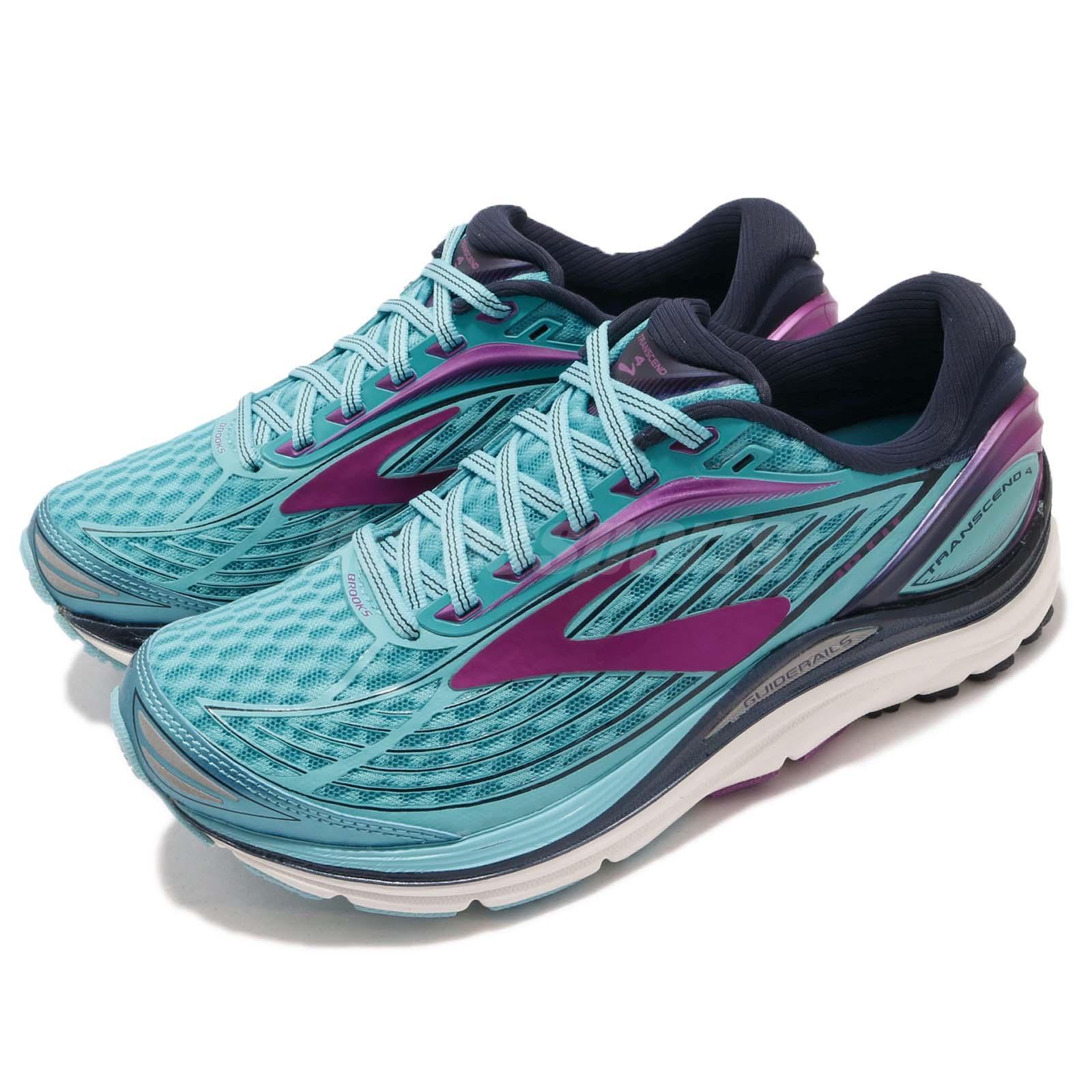 Brooks Transcend 4 bluee Peacoat Purple Women Running shoes Sneakers 120239 1B