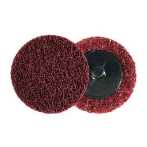 """25-Pack 3M 07480 Scotch-Brite Roloc Surface Conditioning Disc 2/"""" Brown Coarse"""