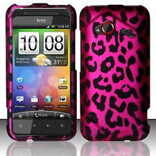 HTC Droid Incredible 4G LTE Rubberized HARD Case Phone Cover Hot Pink Leopard