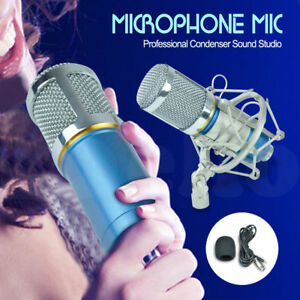 Pro-Blue-Condenser-Dynamic-Microphone-Mic-Sound-Studio-Recording-Shock-Mount-New