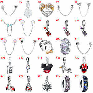 European-Silver-Beads-Safety-Chain-Charms-Pendant-Fit-925-sterling-Bracelet