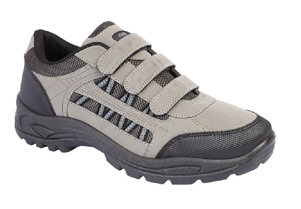 Dek Ascend M089 Triple Touch Fastening Trek And Trail Casual Trainer Shoes Grey/