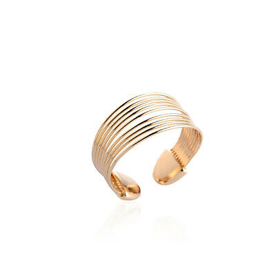 18K Gold Plated  Gathered Ring Adjustable - Ladies Girls gifts comes in gift bag