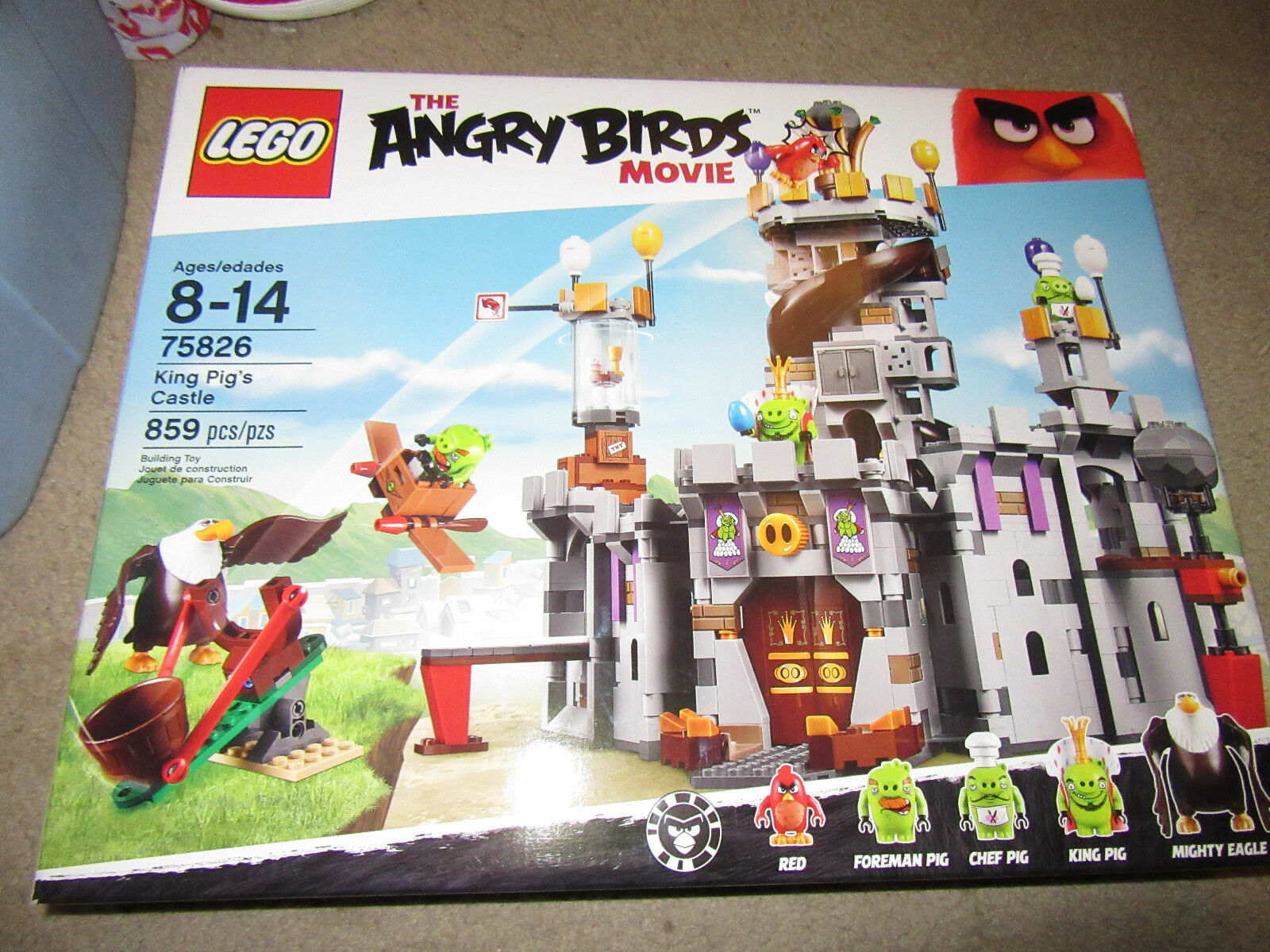 LEGO The Angry Birds 75826 King Pig's Castle New in sealed box