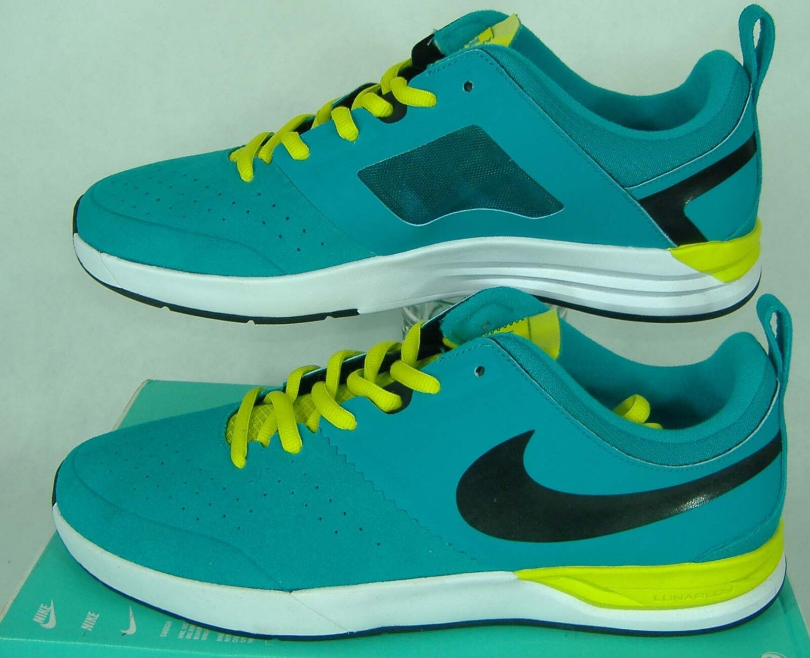 New Uomo 13 NIKE SB Project BA Turbo Green White Skateboard Shoes  95 599698-316