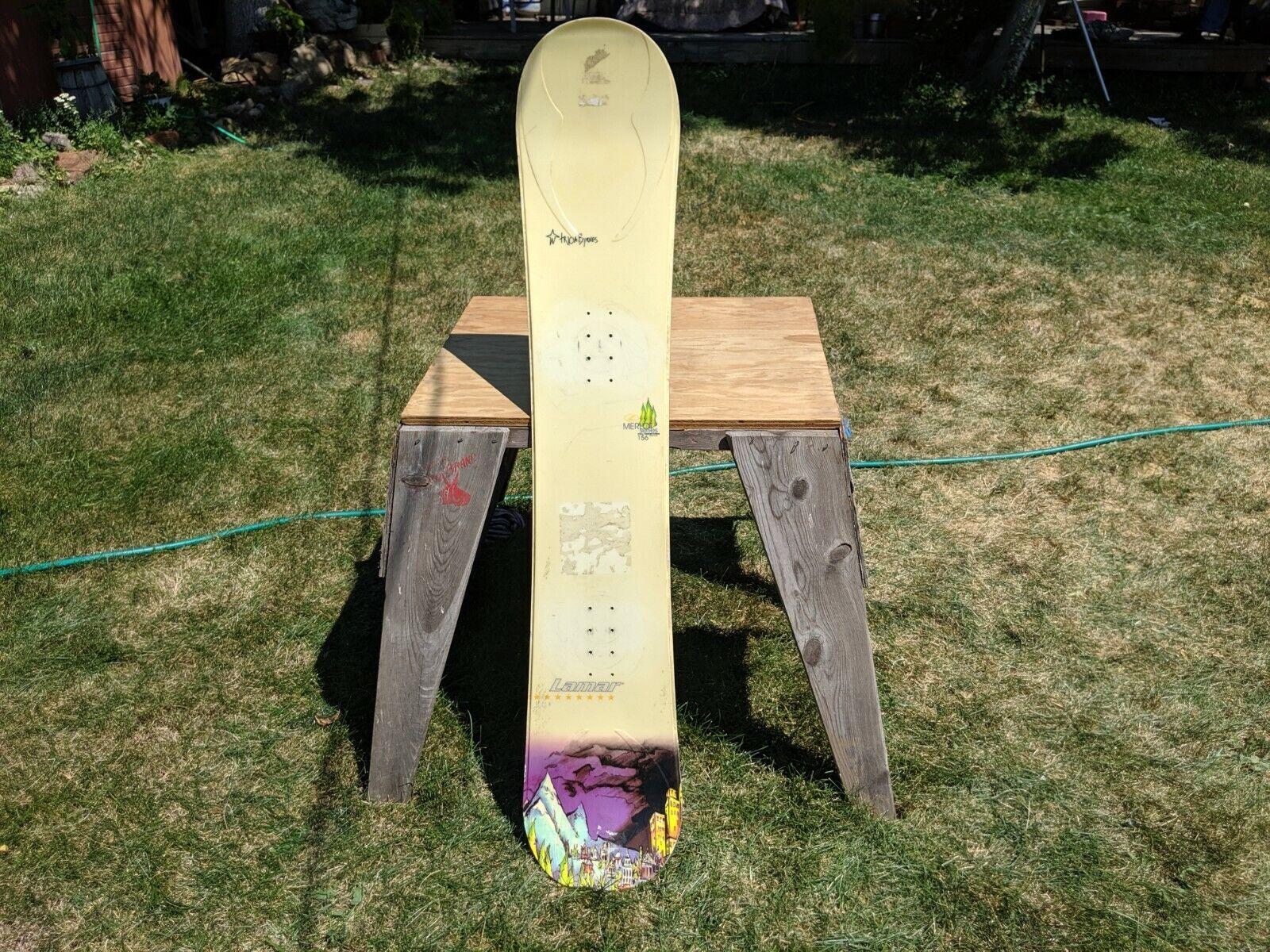 Lamar 156 CM Full Wood Core  Snowboard  enjoying your shopping