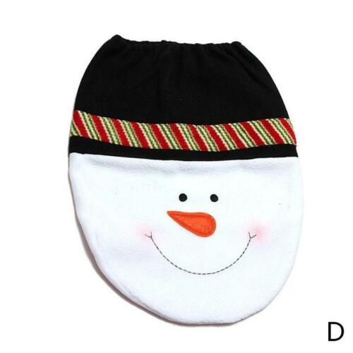 Christmas Santa Snowman Wc Sitz Deckelbezug Mat Weihnachts Bad Home Decor