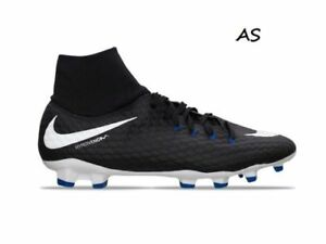 size 40 9f5c6 e9db4 Details about Nike Hypervenom Phelon 3 DF FG Men  Cleats Black Blue  917764-002 Size 10.5