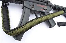 2 Point Paracord Rifle Gun Sling for Rifle Shotgun Airsoft Painball GREEN BLACK