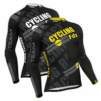 Fdx Mens Pro Cycling Jersey Full Sleeve Racing Cold Wear Thermal Biking Jacket