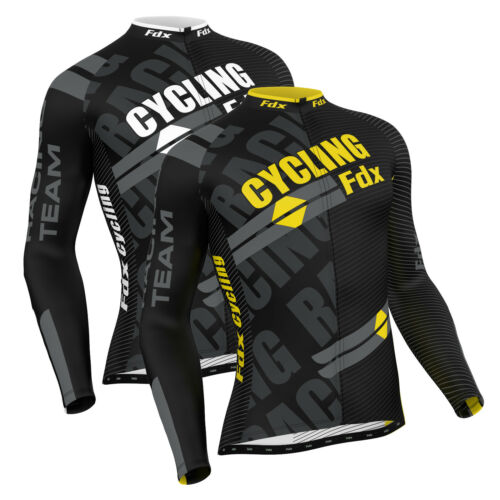 FDX homme pro cycling jersey manches longues racing cold wear thermique cyclisme veste