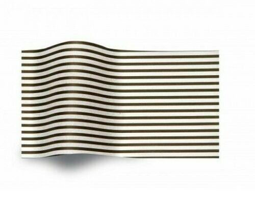 Black /& White Stripes Print Pattern Tissue Paper 50cm x 76cm 17.5gsm ACID FREE
