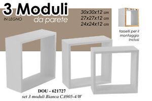 3-MODULI-MENSOLE-SCAFFALE-DA-PARETE-QUADRATI-LEGNO-BIANCHE-DOU-621727