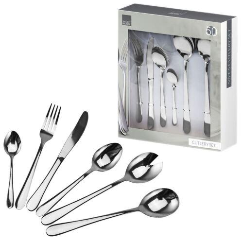 16PC 24PC 50PC Qualité Set de couverts en acier inoxydable Table à Manger Sets