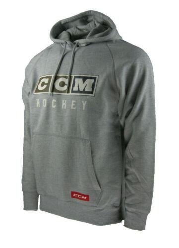 CCM Hockey Classic Fleece Hoody Senior//Adult-Athletic Grey