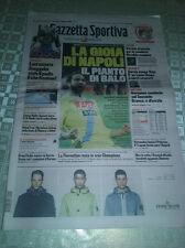Gazzetta dello Sport 9/2/2014 NAPOLI-MILAN 3-1 LA GIOIA DI NAPOLI PIANTO DI BALO