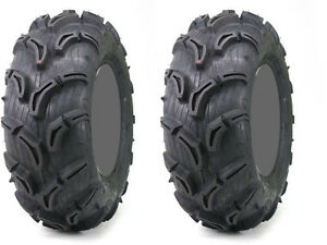 Pair-2-Maxxis-Zilla-25x10-12-ATV-Tire-Set-25x10x12-25-10-12