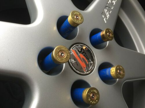 25 Lug Nuts blu con cappuccio dorata TUNING PALLINI bossoli copertura bulloni ruota