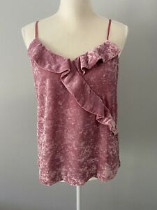 J. Crew Women's Velvet Ruffle Tank Size S New with Tags