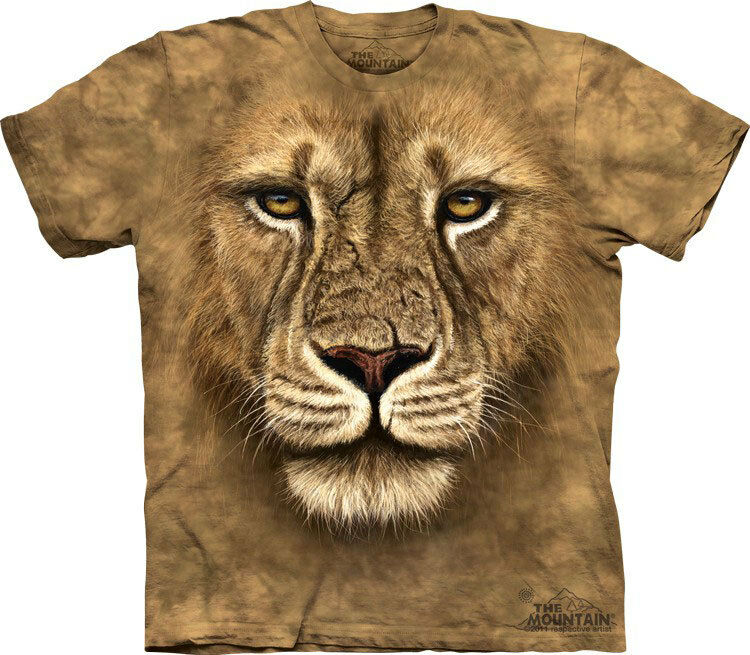 NEW LION WARRIOR Face Wildlife King of the Jungle The Mountain T Shirt