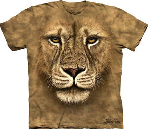 NEW-LION-WARRIOR-Face-Wildlife-The-Mountain-T-Shirt-Adult-Sizes