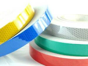 HIGH QUALITY GREEN//WHITE CHEQUERED REFLECTIVE TAPE 100MM WIDTH 7 LENGTHS