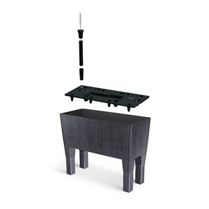 blumentopf blumenkasten mit f en blumenk bel rattan. Black Bedroom Furniture Sets. Home Design Ideas