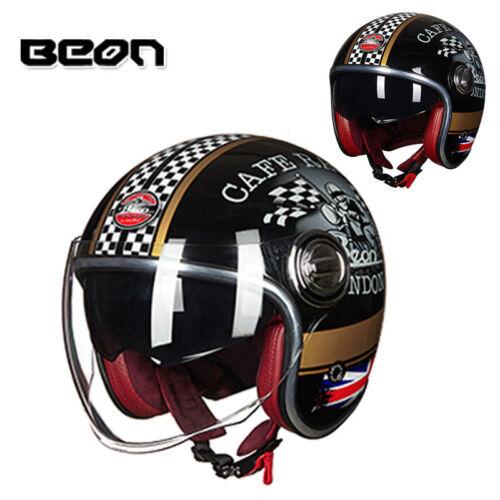 BEON Jet Motorcycle 3//4 Half Helmet Scooter Motorbike Chopper ECE Riding Helmets