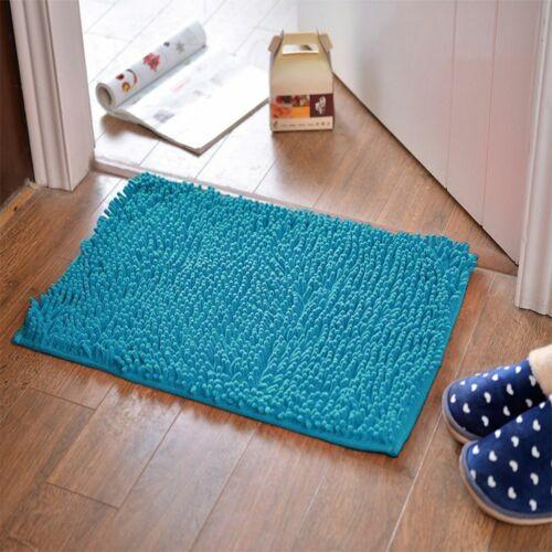 Soft Microfiber Shaggy Non Slip Absorbent Bath Mat Bathroom Shower Rugs Carpet