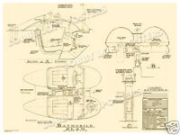 1965 Cockpit Blueprint For 1966 Batmobile 1 Batman Tv Pilot Art Print 1 Poster