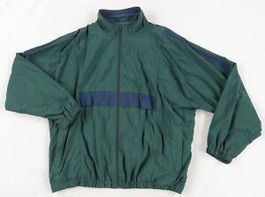 Jos-A-Bank-Men-039-s-Nylon-L-S-Full-Zip-Green-amp-Navy-Windbreaker-Coat-Jacket-XL