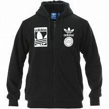 Adidas Mens Graphic FZ Sherpa Jacket Snow Cotton Fleece Hoodie LARGE AB8034