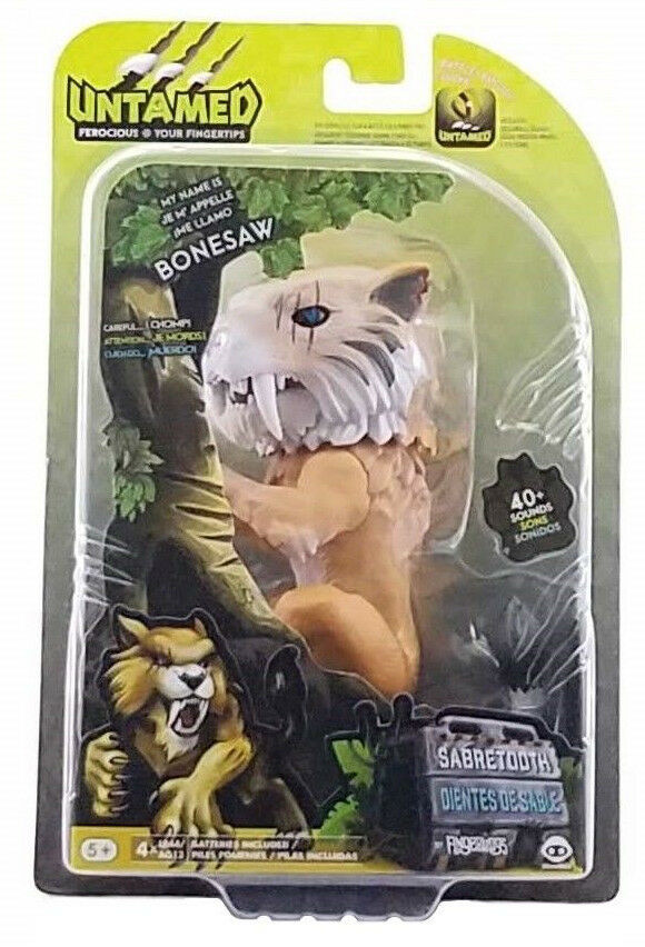 Untamed Fingerlings Bonesaw Sabertooth WowWee Fingerling New 2018