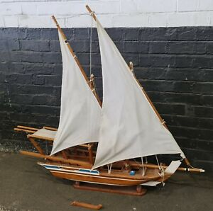 Wooden Ship Model - LARGE 120cm. long  beautiful collection piece - Vintage