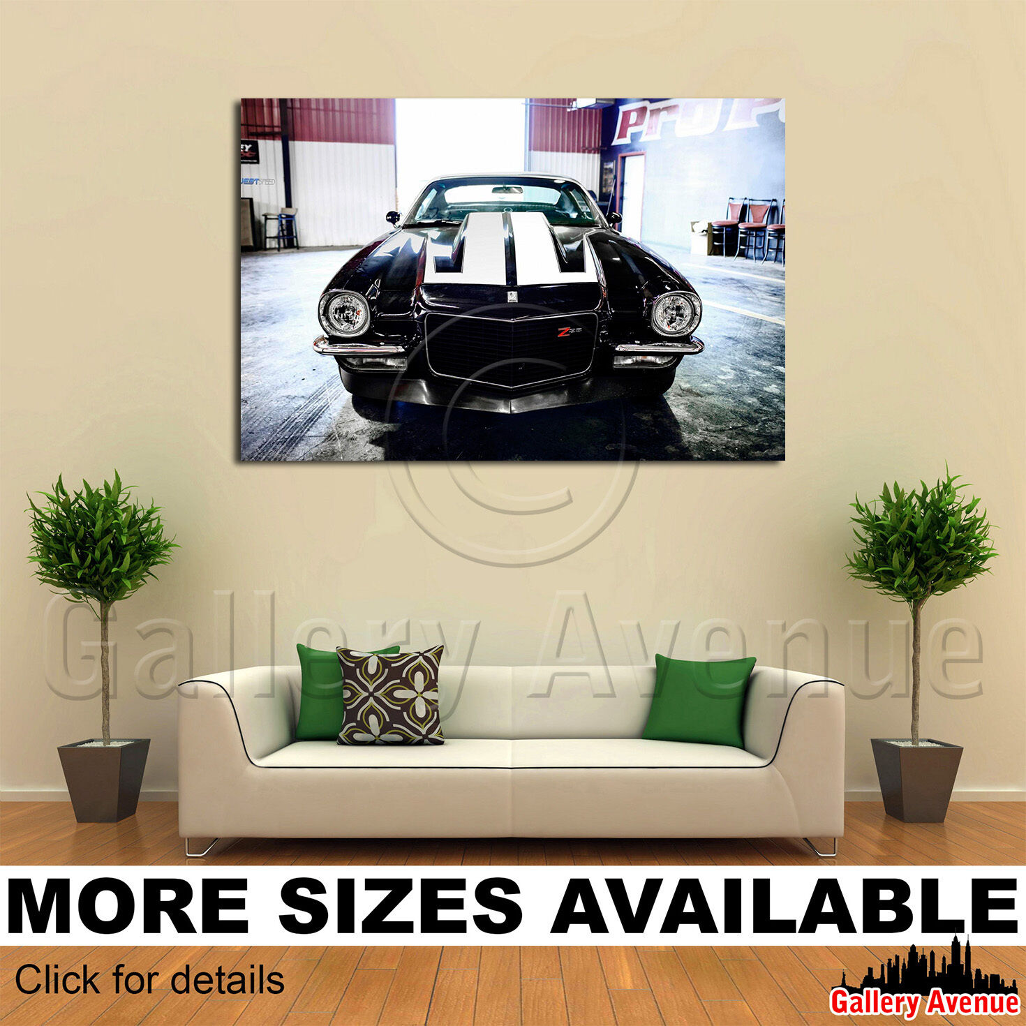 Wall Art Canvas Picture Print - Chevrolet Camaro Z28 American Muscle Car 3.2