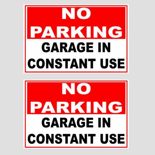 2 Pack No Parking en utilisation constante Self Adhésif Autocollants extérieur utiliser