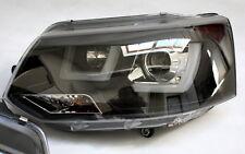 SCHEINWERFER SATZ SCHWARZ VW T5 GP AB 2009 MIT ECHTEM LED TAGFAHRLICHT UBAR NEU