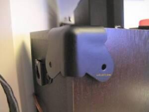 8 pcs speaker cabinet black corner guitar amp cab protectors with fixing screws ebay. Black Bedroom Furniture Sets. Home Design Ideas