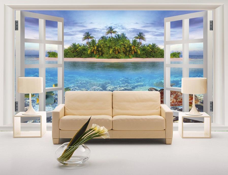 3D Island Beach 468 Wallpaper Murals Wall Print Wallpaper Mural AJ WALL AU Lemon