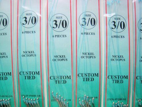 Dolphin Brand Size 3//0 Snelled Octopus Hooks 60 total hooks 10 pks