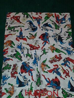 Pottery Barn Kids Dc Comics Super Hero Pillowcase New Monogrammed Hudson Ebay