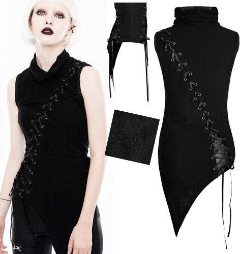 46bd99001678f1 Asymmetrisch Top Shirt Gothic Punk Lolita Ripped Destroy Schnürung Mode  PunkRave
