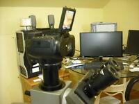 Nikon Camera Adapter + Olympus Microscope Trinocular Tube Ax Bx Mx Stm Szx
