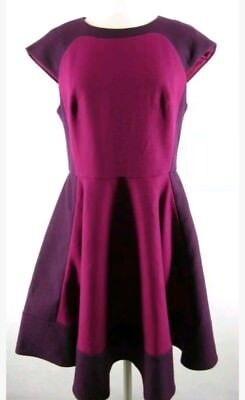 Ted Baker Linkah block flare dress gorgeous sz 4 $325 US 10
