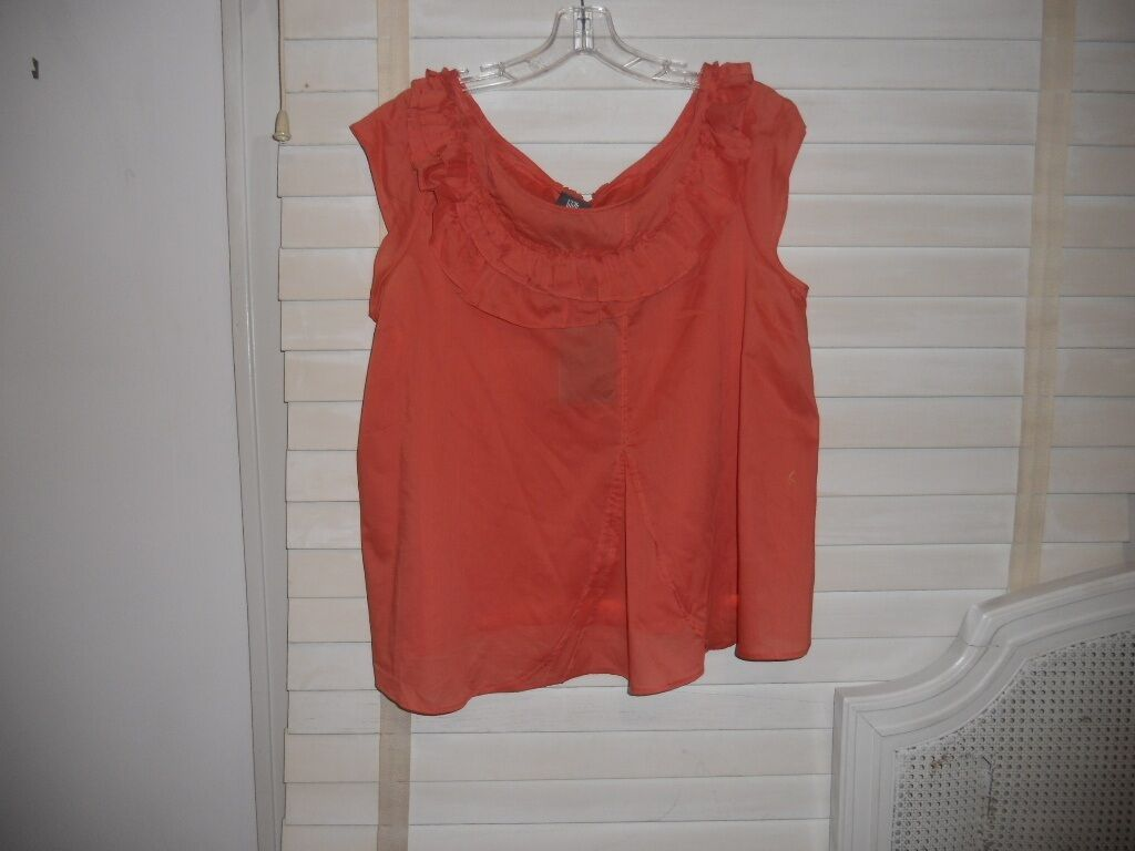 NWT Lilith France  Art To Wear  Lagenlook Bateau Goyave Shell Tank Cami Top