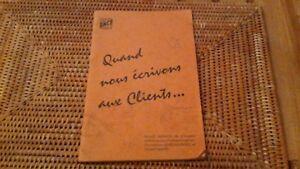 """1960 sncf guide manuel reglement """"QUAND NOUS ECRIVONS AUX CLIENTS"""" 8sSE76Ax-08060614-228343939"""