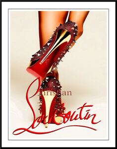 4a4b7ddd1440 Image is loading Christian-Louboutin-Shoes-Canvas-Art-16-x-20-